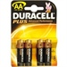 Batteri AA Duracell plus 4 stk.